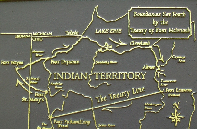 Treaty of Fort McIntosh Boundary Line Map on Marker