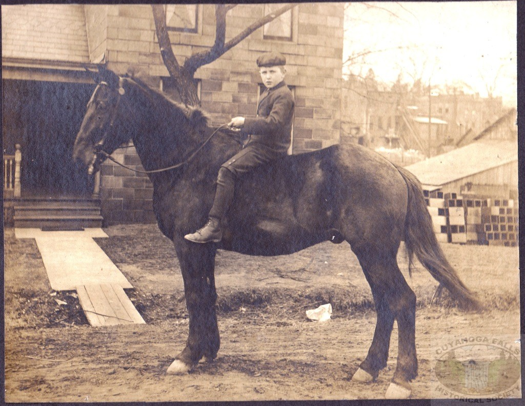 Unknown Boy and horse