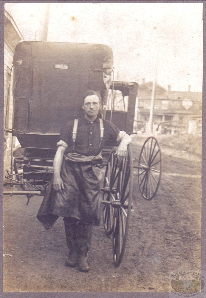 Unknown Man and Carriage