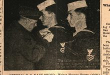 1946 Walter Thomas Brown (Navy) of 6th Street Receives Award